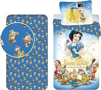 Parure De Lit 3 Pieces Disney Blanche Neige Et Les 7 Nains Housse