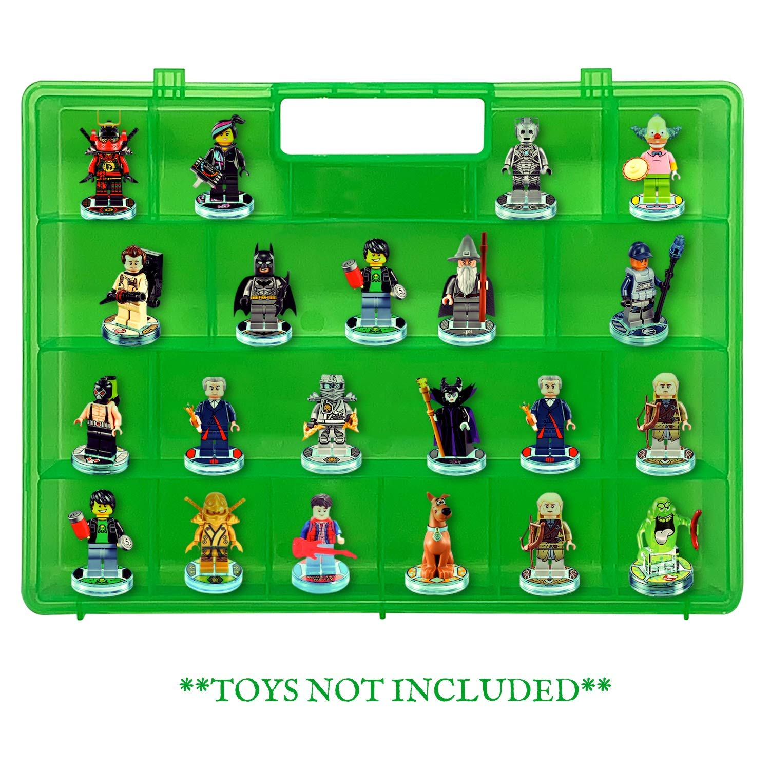 Compatible with Lego Dimensions Video Game Figures Life Made Better Model Toy Case not Made or Sold by Lego Green Sturdy Protective Organization Storage Case