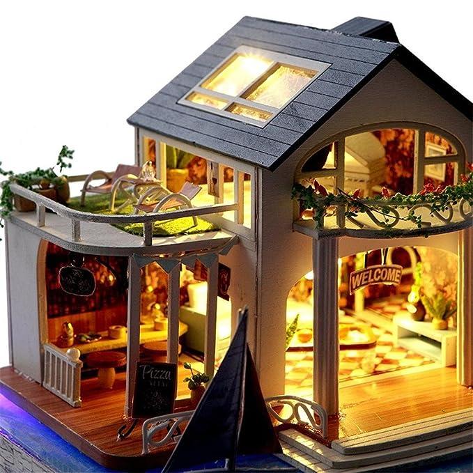 Godbless Puppenhaus Diy Mit Led Licht Baumhaus Karneval Nacht