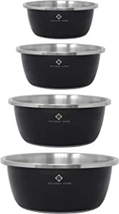 Gourmet Home Products Steel Mixing Bowls, 4-pc set, Black