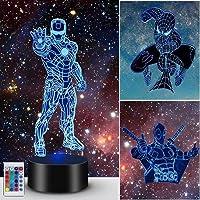 3D Illusielamp, Superheld Licht Nacht voor Jongens Meisjes Decoratielamp - Cadeaus Verjaardagsfeestje Kerst voor…