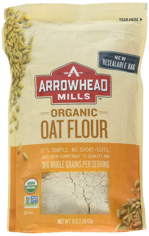 Arrowhead Mills Harina de avena orgánica, 16 oz: Amazon.com ...