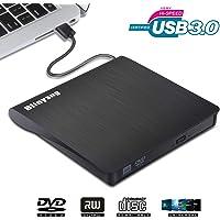 Blinyang External DVD Drive for Laptop USB 3.0 External CD Drive for Mac Portable Slim DVD Player for Laptop Compact Disc CD-R/DVD R/DVD-R/DVD R DL/Re