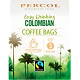 PERCOL FAIRTRADE EASY DRINKING COLOMBIAN COFFEE BAGS – Silky-Smooth Flavor, Medium Strength Ultra-Convenient Coffee-On-The-Go for Caffeine Boost Any Time of Day – FAIRTRADE CERTIFIED 10 bags 1 Pack