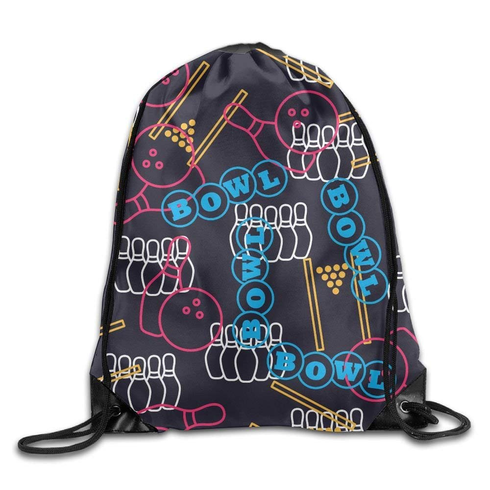 Drawstring Gym Sport Bag Bowling Sport Fashionable Travel Bag For Unisex Canvas Bag Drawstring