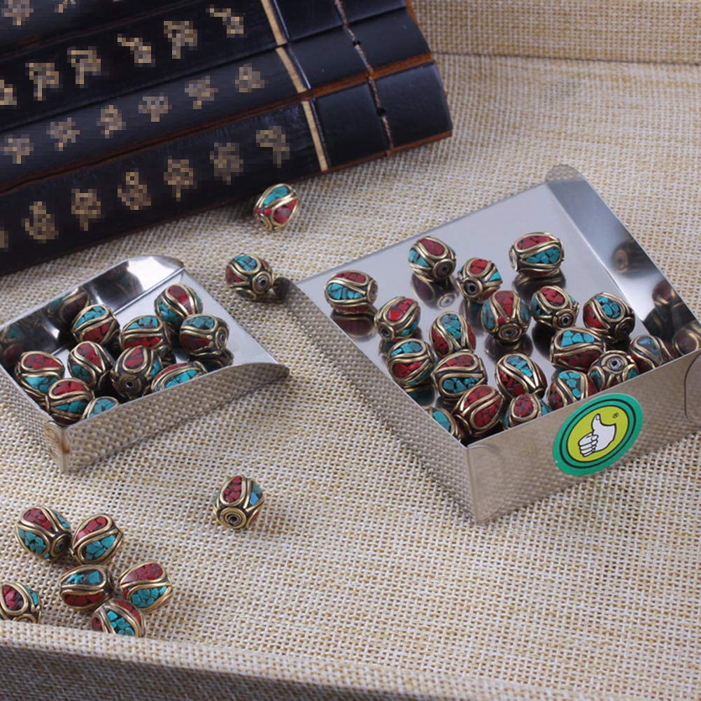 SUPVOX N/épal Bouddha Perles /À La Main Cuivre Spacer Perles avec Trou pour La Fabrication de Bijoux 10 PCS