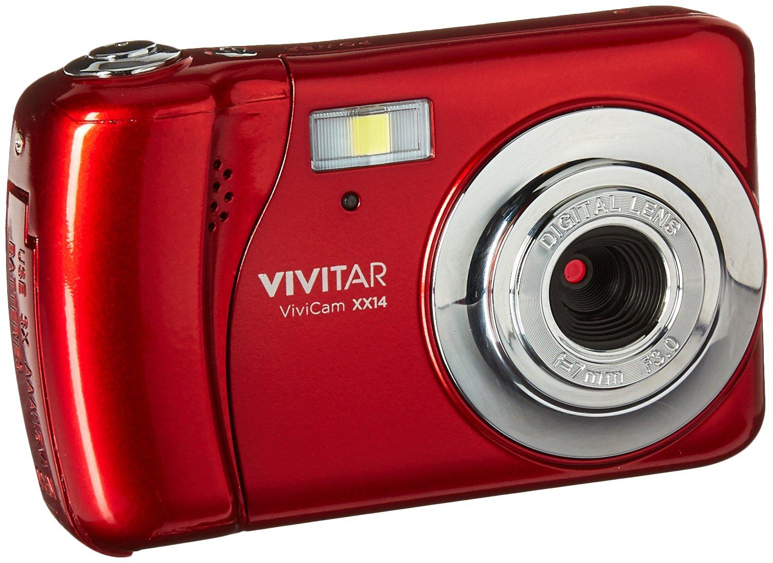 Vivitar VX018 Selfie Cam Digital Camera, Red