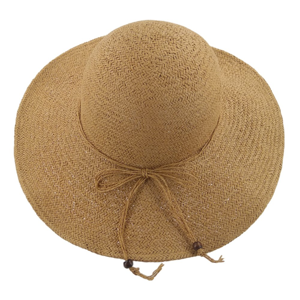 457f76f24de5a LETHMIK Summer Beach Straw Hat Womens Wide Brim Floppy Packable Sun Hat 2018  Khaki. Store Home Our Feedback Ask a Question