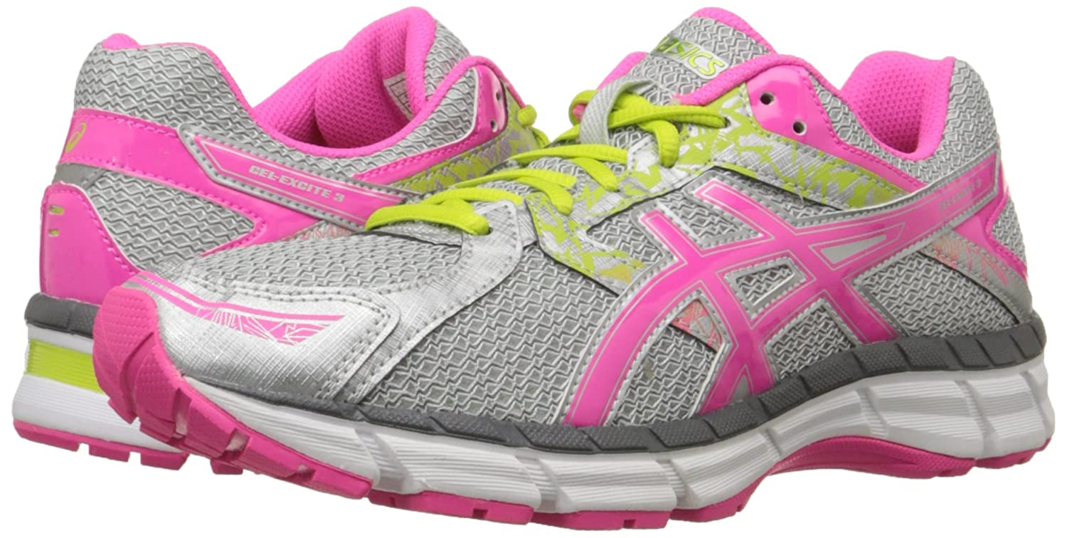 ASICS Women's GEL-Excite 3 Running Shoe Pink/Lime B00OU85IUU 6.5 B(M) US|Silver/Hot Pink/Lime Shoe Punch 1771b9