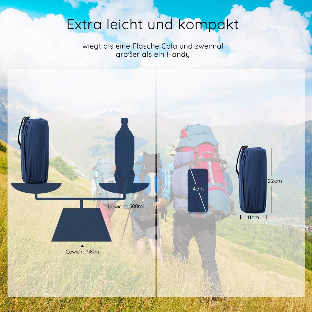 2019 Neues Innovatives Design Isomatte f/ür Outdoor,Strand,Trekking und Backpacking,200cm L/änge-Olivgr/ün//Marineblau OGL Isomatte Camping Ultraleicht Schlafmatte Aufblasbare Luftmatratze f/ür Camping