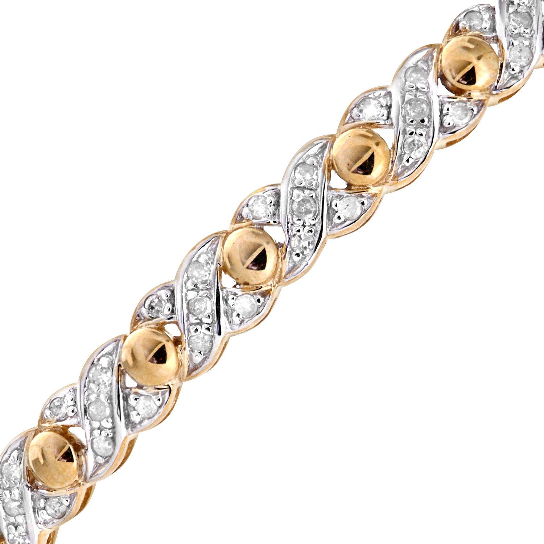 Naava Women\'s 0.25 ct Diamond Illusion Setting 9 ct Yellow Gold ...