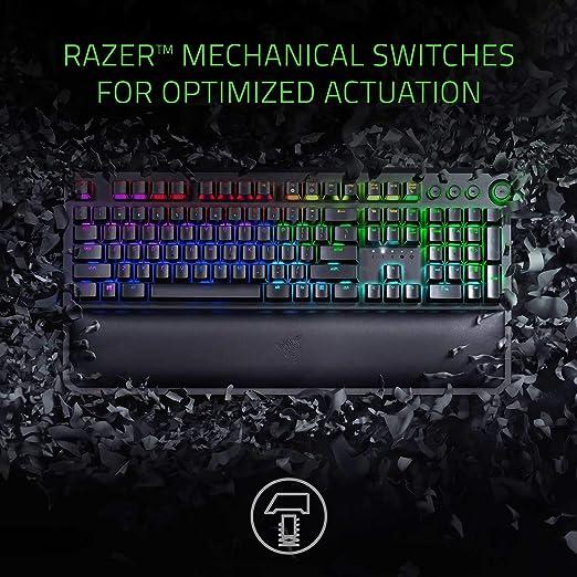 Razer BlackWidow Elite Mechanical Gaming Keyboard: Green Mechanical  Switches - Tactile & Clicky - Chroma RGB Lighting - Magnetic Wrist Rest -