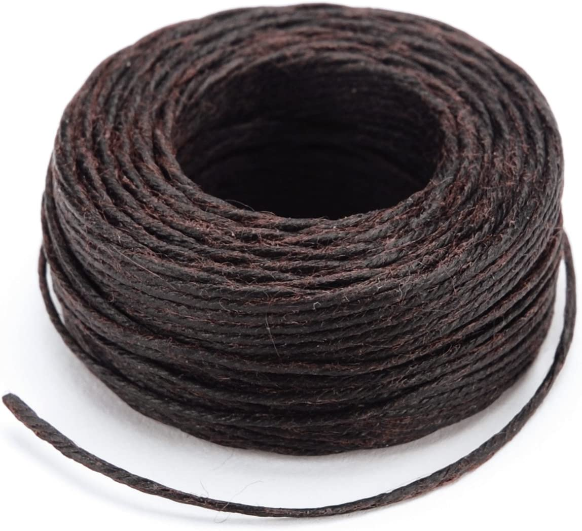 Black Tandy Leather Factory Waxed Thread 25-Yard