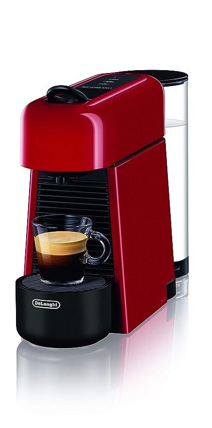 DeLonghi EN200.R - Cafetera con sistema de cápsulas Nespresso, plástico, rojo