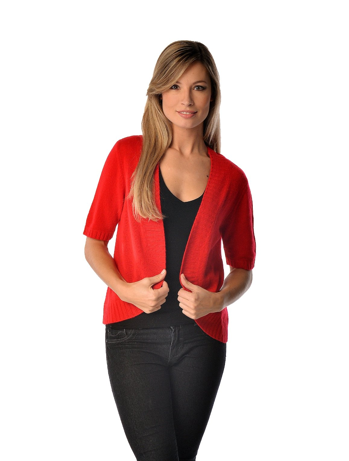 Pure Cashmere Shrug Style Sweater (Camel, One Size)