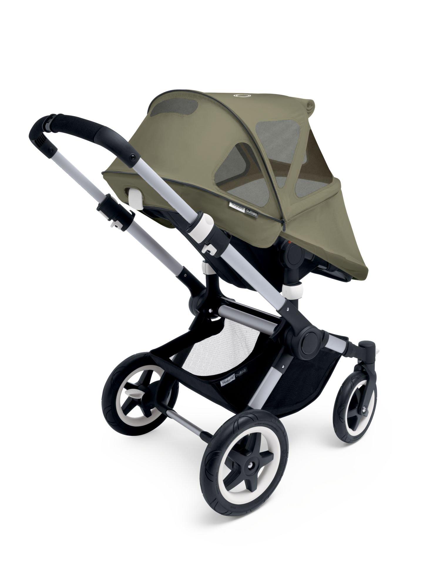 Bugaboo Buffalo Breezy Sun Canopy for Stroller, Dark Khaki