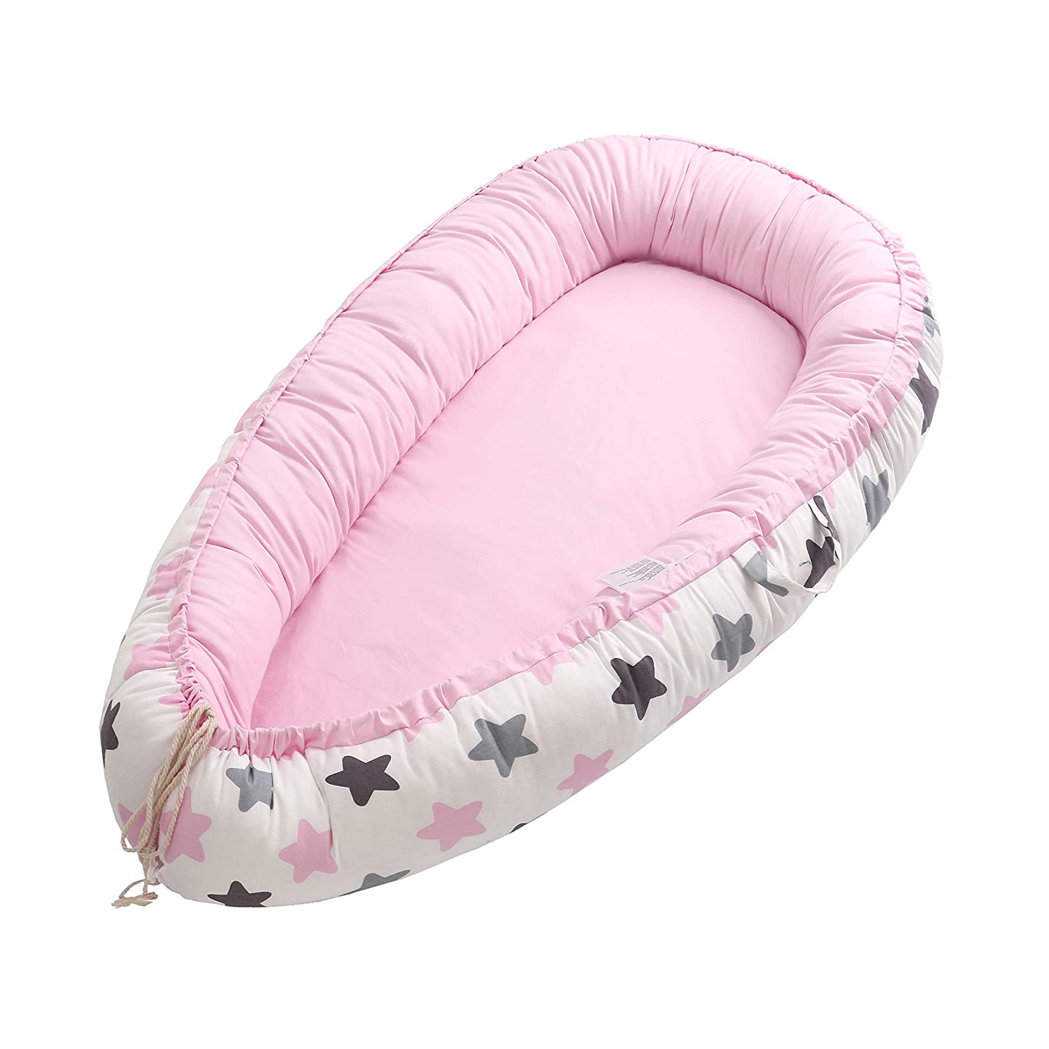 Baby Lounger Portable 100/% Organic Soft Cotton Breathable Crib Baby Nest and Baby Bassinet Deer Perfect for Co-Sleeping and Traveling 0-12 Months