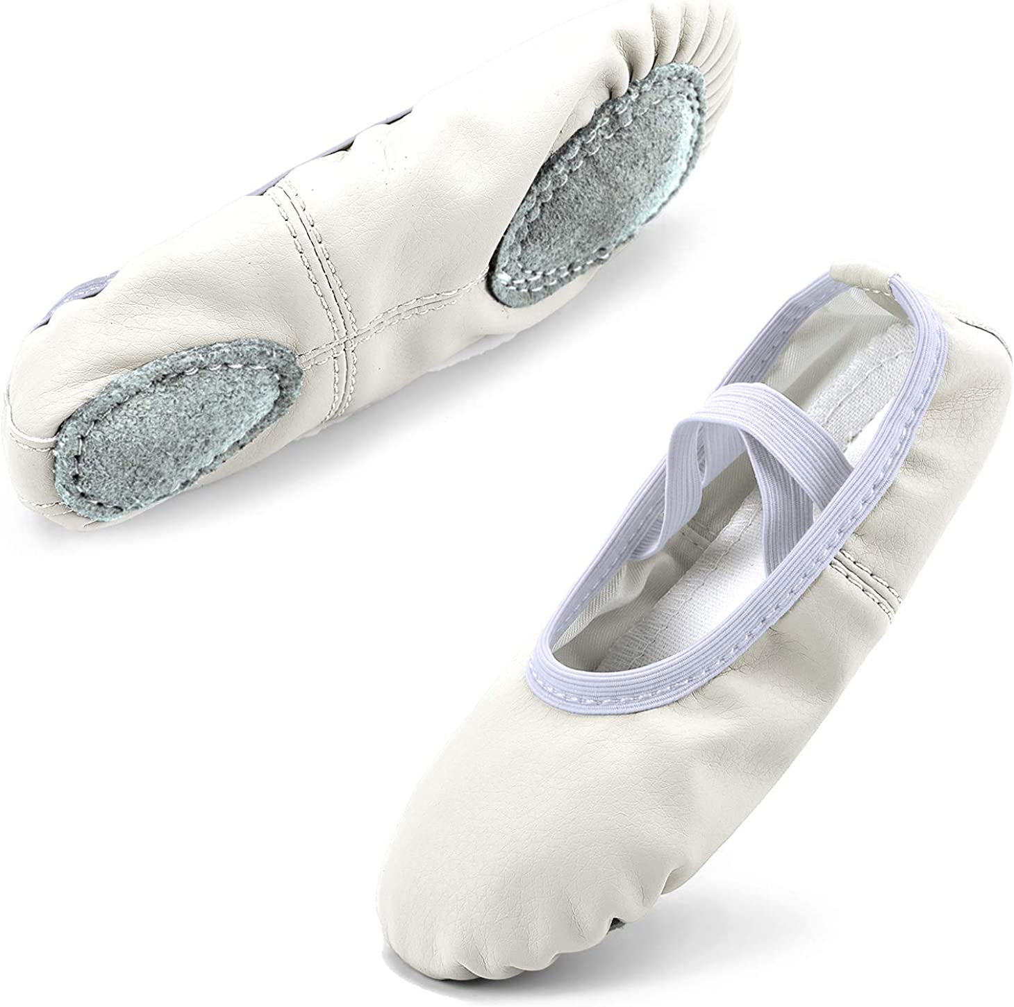 Toddler//Little Kid//Big Kid//Women Scurtain Girls Leather Ballet Shoes Full Sole Yoga Shoes//Dance Shoes