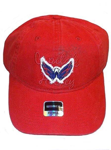 Amazon.com   Reebok Washington Capitals Slouch Strap Back Hat ... b4aad87ff0