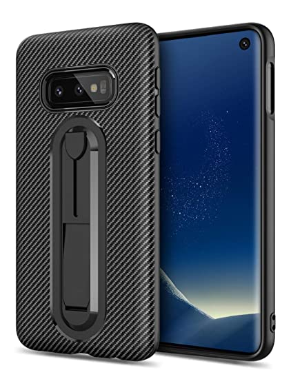 new products cd4ba 6ce48 Kickstand Phone Case for Samsung Galaxy S10e,GREATRULY Soft Slim Galaxy  S10e Silicone Case,Stand Feature Flexible Thin Drop Proof Carbon Fiber  Texture ...