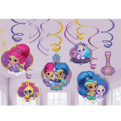 Foil Swirl decoration | Shimmer and Shine™ Collection | Party Accessory: Toys & Games