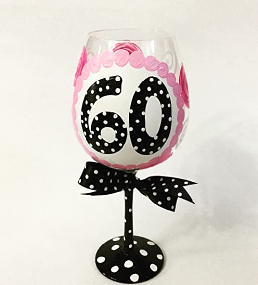 Amazon.com: Copa de vino gigante de 60 cumpleaños para toda ...