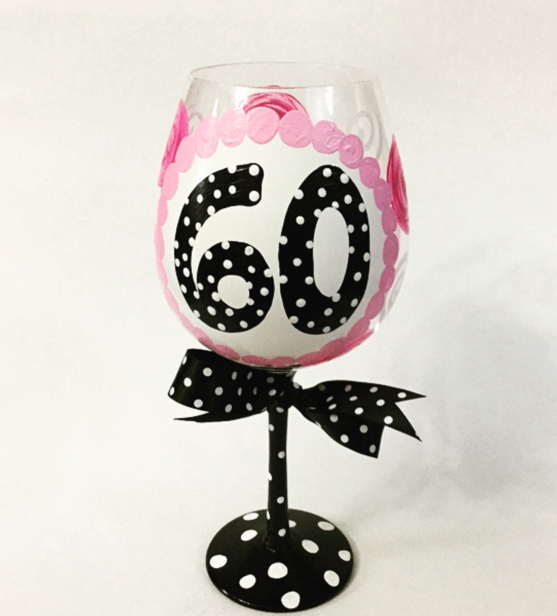 GIANT 60th Birthday Wine Glass--HOLDS ENTIRE BOTTLE OF WINE