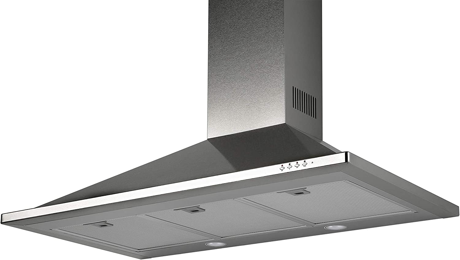 "Equator 36"" Made in Europe Wall Mount Range hood, Real Stainless, 600 CFM, LED lights, 3 Speed, Timer with Auto Speed Reduction"