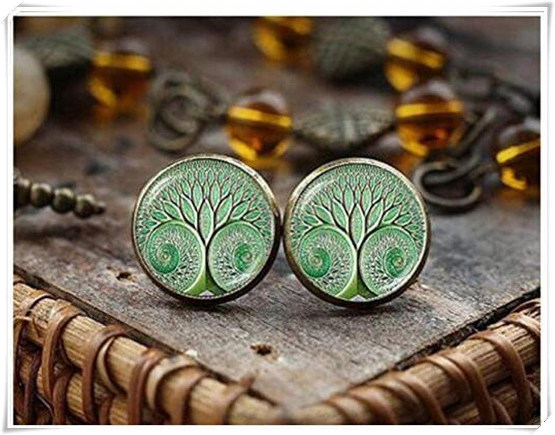 Árbol de la vida árbol de tuerca, árbol de la vida joyas, pendientes