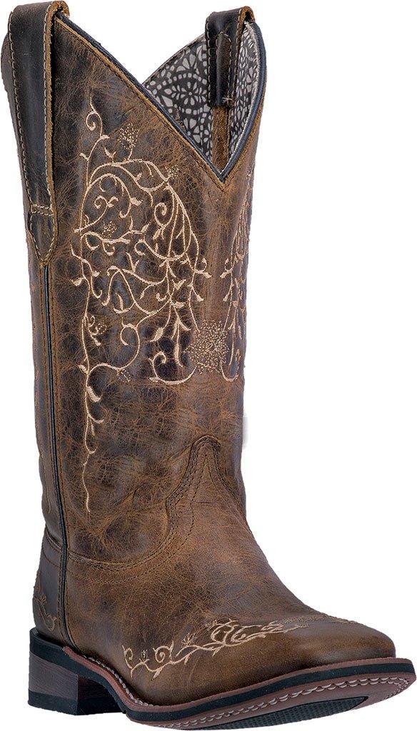 Laredo Women's Ivy Cowgirl Boot Square Toe - 5677 B01549VMUS 8 M US|Taupe