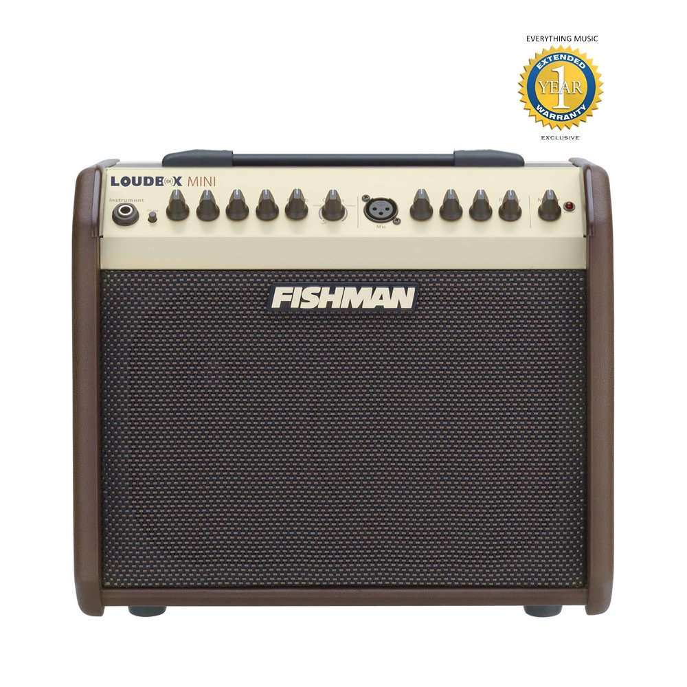 Fishman Loudbox Mini 60W Acoustic Combo Amplifier with 1 Year Free Extended Warranty