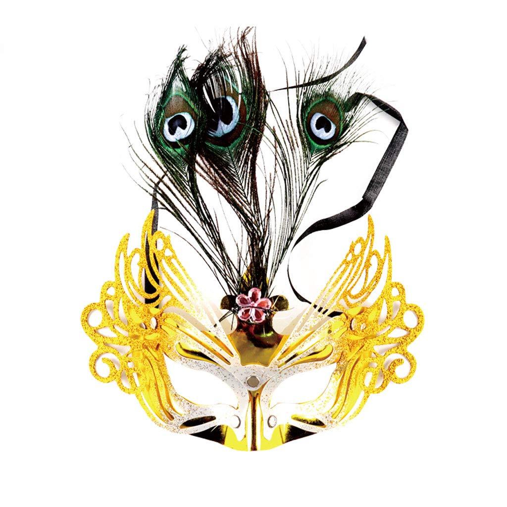 Mask- Phénix Queue Plume Masque pour Les Yeux Party Dress Up Dance Party Beauté Galvanoplastie Poudre Or Anniversaire Bar Discothèque Maquillage Carnaval