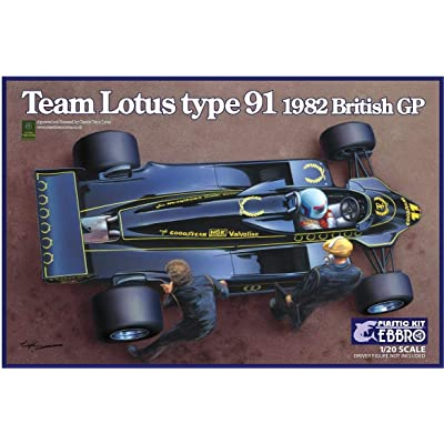 Ebbro 1/20 Scale Team Lotus Type 91, 1982 British Grand Prix Race Car Plastic Model Kit # 20012: Toys & Games