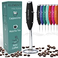 Elementi Milk Frother Handheld Electric Matcha Whisk, Milk Frother for Coffee Frother Electric Handheld Drink Mixer…