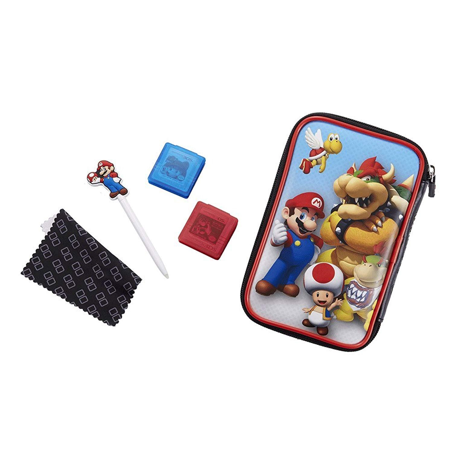 """Official Nintendo New 3DS XL / 3DS XL - Accessory Set """"Official Essential Mario Pack"""" 4 Motifs For selection Protects 3DS und Games - Browser, Set"""