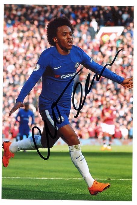 f51876dfd WILLIAN Signed 6 X 4 Inch Soccer Photograph. Genuine Autograph. COA ...