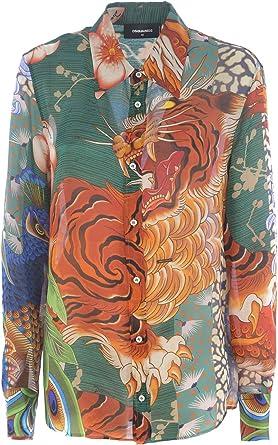 DSQUARED2 Camisa - Multicolor, 38: Amazon.es: Ropa y accesorios