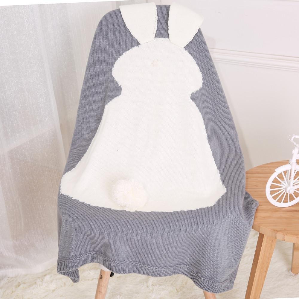 Covermason Gigoteuses et nids dange Enfant lapin tricot couverture literie couette Play couverture animaux Kids l/èvent couverture berceau Wrap couverture