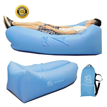 Inflatable Lounger Lounge Hangout Sofa   Blinbling 2017 Upgraded Inflatable  Pool Lounger Including Two Side Bags