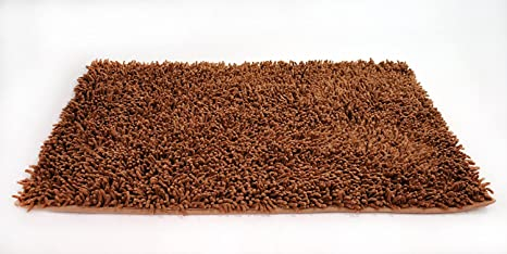 Tache Shag Brown Bath Rug   Solid Camel Cotton Chenille All Area Rugs,  Kitchen Rugs