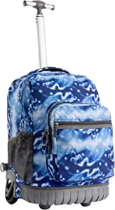 Rolling Backpack for Girls and Boys,Student Backpack for High School
