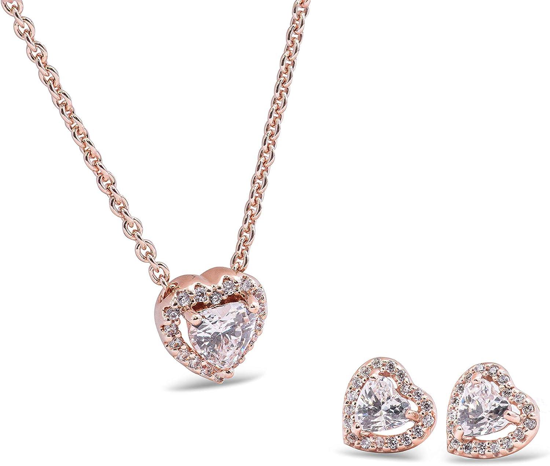 Amazon Com Pandora Elevated Heart Jewelry Gift Set Jewelry