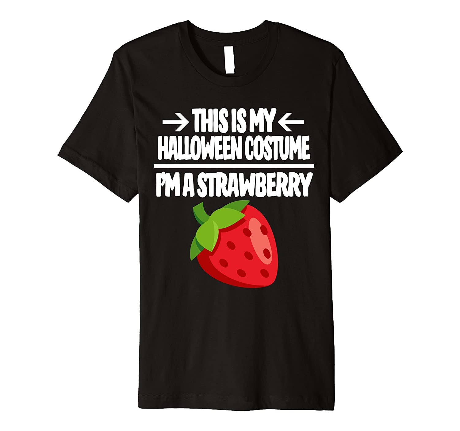 Strawberry Halloween Costume Shirt - Men Women Youth Sizes