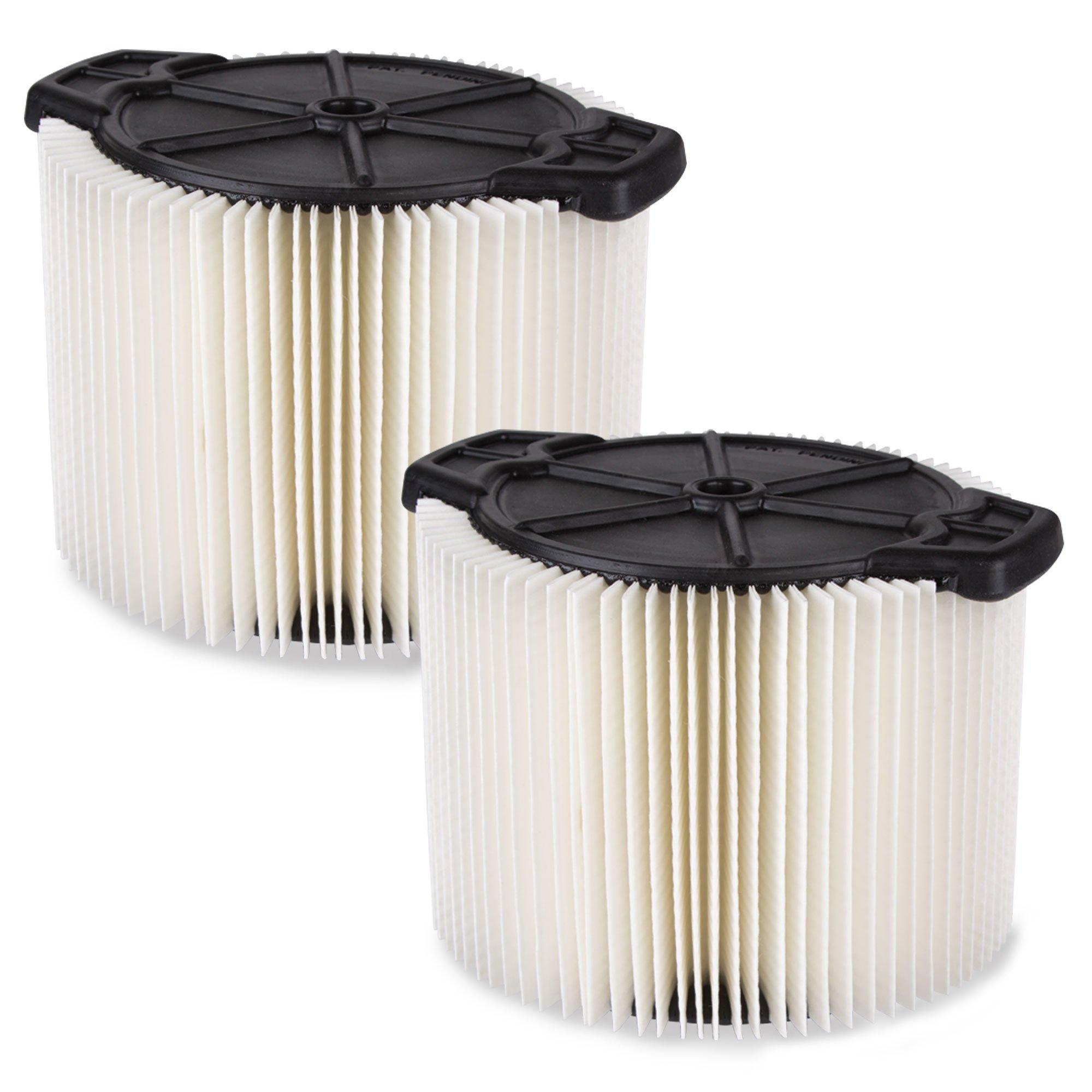WORKSHOP Wet Dry Vac Filters WS11045F2 Standard Wet Dry Vacuum Filters (2-Pack - Shop Vacuum Filters) For WORKSHOP 3-Gallon To 4-1/2-Gallon Shop Vacuum Cleaners by WORKSHOP Wet/Dry Vacs