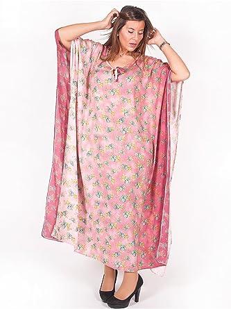 Edmond Boublil Vetement Femme Grande Taille Robe D Interieur Motif Rose Amazon Fr Vetements Et Accessoires