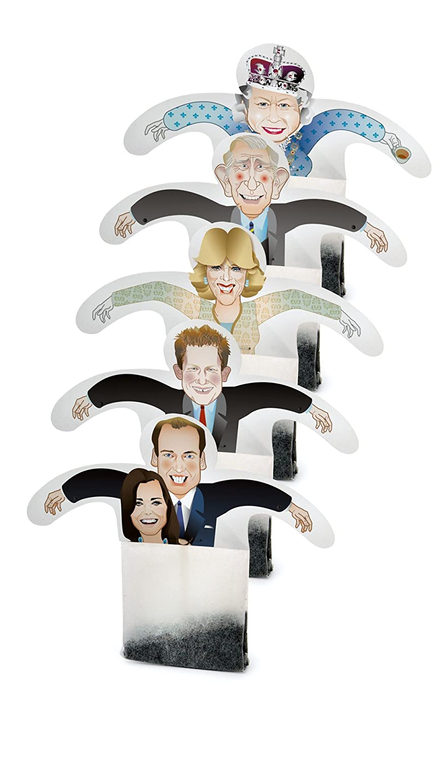 B002K5VL3S RoyalTea Royalty Tea Bags Gift Set with the Royal Wedding Family Figures, Prince William, Charles, Queen 71676Lgvu0L._SL1500_