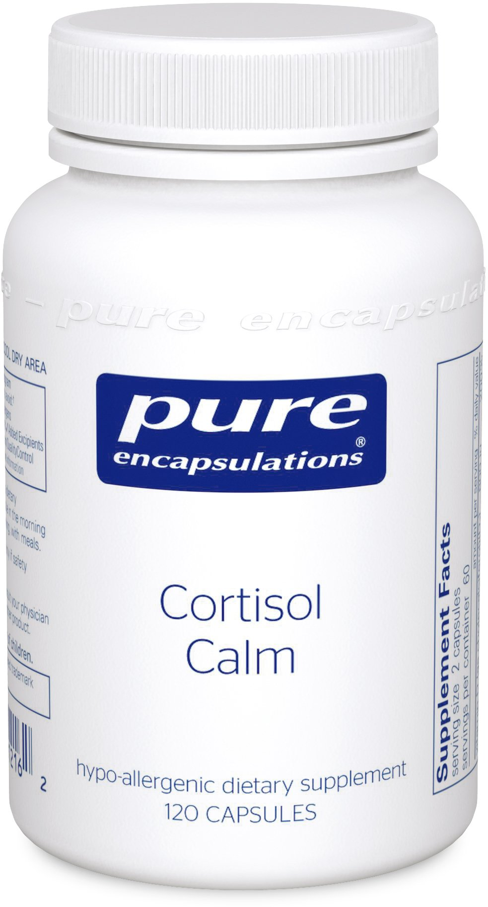 Pure Encapsulations - Cortisol Calm - Hypoallergenic Supplement to Maintain Healthy Cortisol Levels* - 120 Capsules by Pure Encapsulations