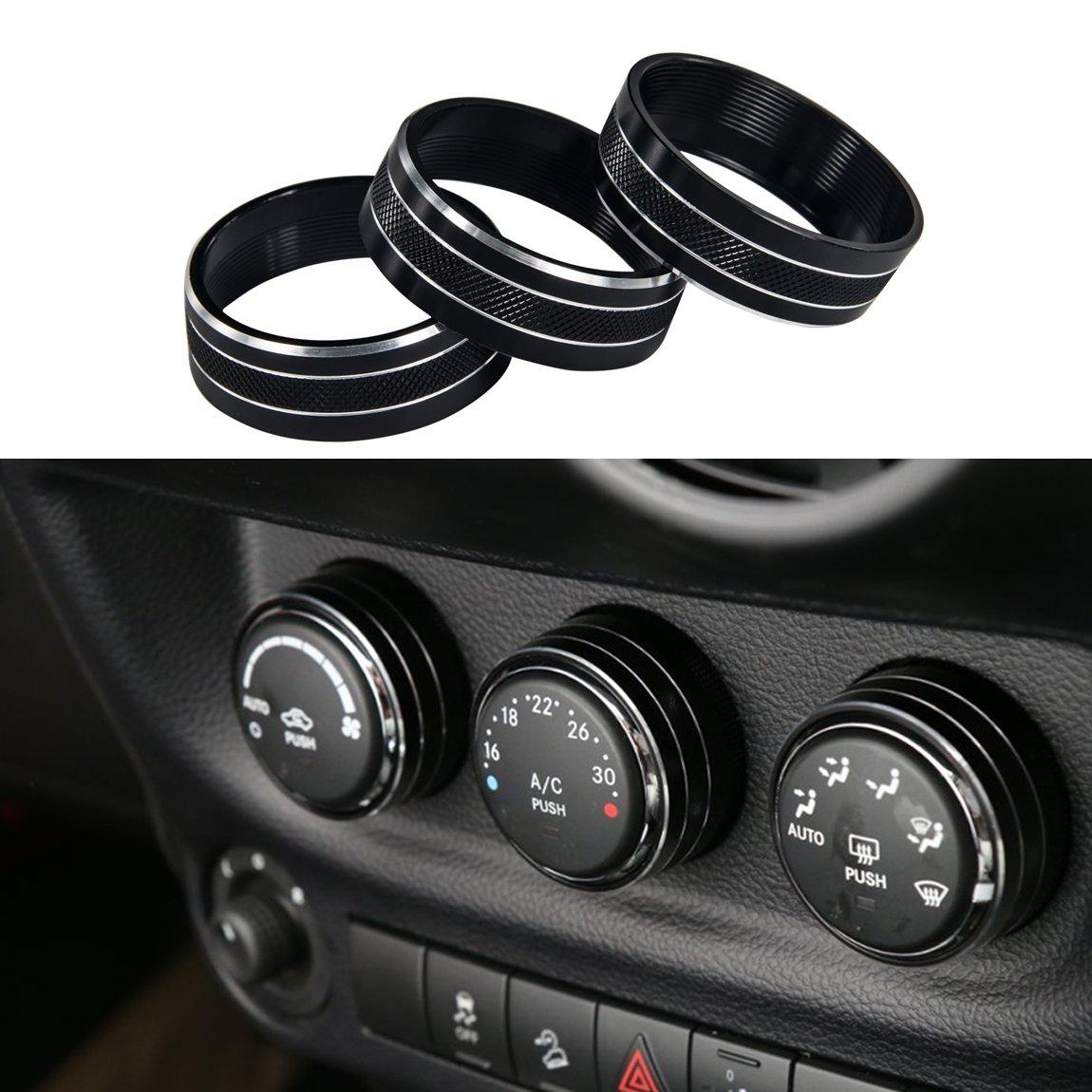 3pcs Audio Air Conditioning Button Cover Decoration Twist