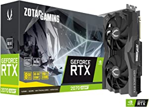 ZOTAC Gaming GeForce RTX 2070 Super Mini 8GB GDDR6 256-Bit 14Gbps Gaming Graphics Card, Ice Storm 2.0, Super Compact, ZT-T20710E-10M
