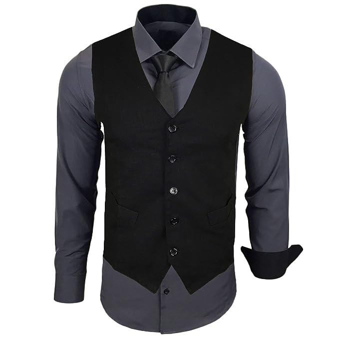 Keine Verkaufssteuer bieten viel Talsohle Preis Baxboy Neal Herren Anzug Weste Anzugsweste Sakko Weste Krawatte wählbar mit  Hemd RN-44-HWK